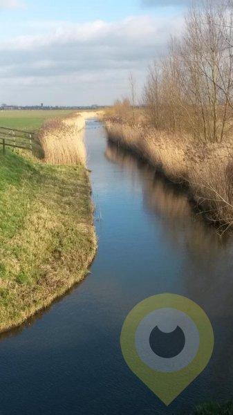 Vanaf het fietspad aan de Buitendijk in Strijen Sas - 2 Februari 2014 - Adri Duimelaar