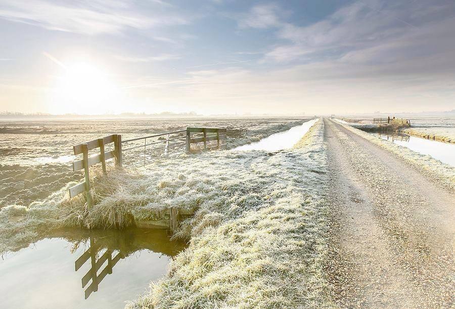 Zondag 12 januari s'morgens vroeg gemaakt aan de Kreupelweg in Strijen gemaakt door Jeffrey Groeneweg