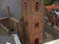 Een mooie foto vanaf het dak van het vroegere gemeentehuis van Strijen waar nu Overwater gevestigd is van de kerk in Strijen gemaakt door Kees Bravenboer