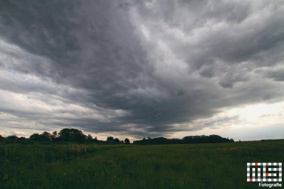 Het Oude Land richting Strijen. - Foto Marc vd Stelt