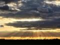 Mooie foto vanaf strijen richting Klaaswaal vrijdagavond - Ferry Krauweel
