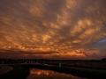 Bijzondere zonsondergang bij complex Strienemonde - Foto Ferry Krauweel
