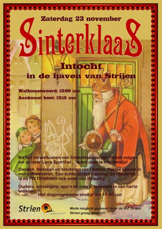 Poster Sinterklaas 2019 Drukker Strijen Info